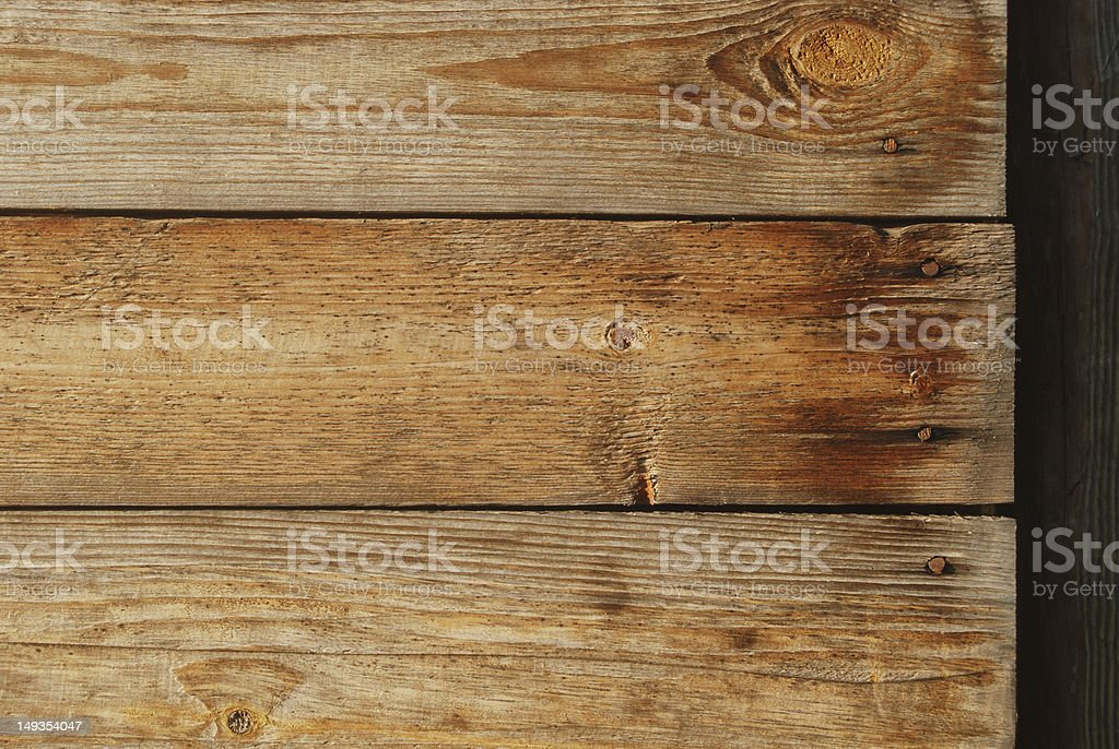 Old wooden planks with nails royalty-free stock photo