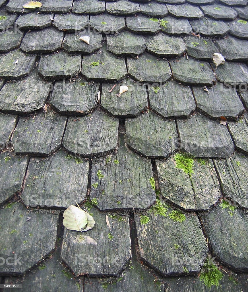 Old Wooden Roof stock photo