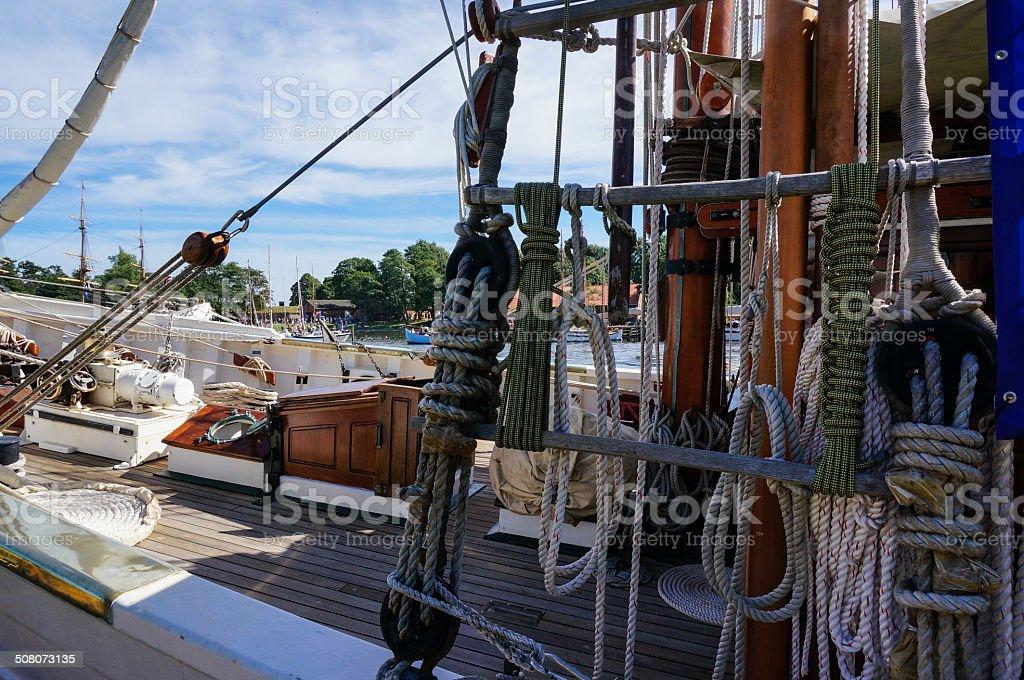 Old wooden sailing ship royalty-free stock photo