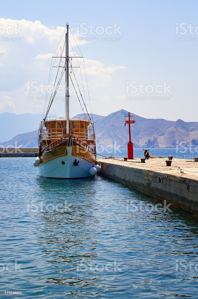 Old Wooden Ship stock photo