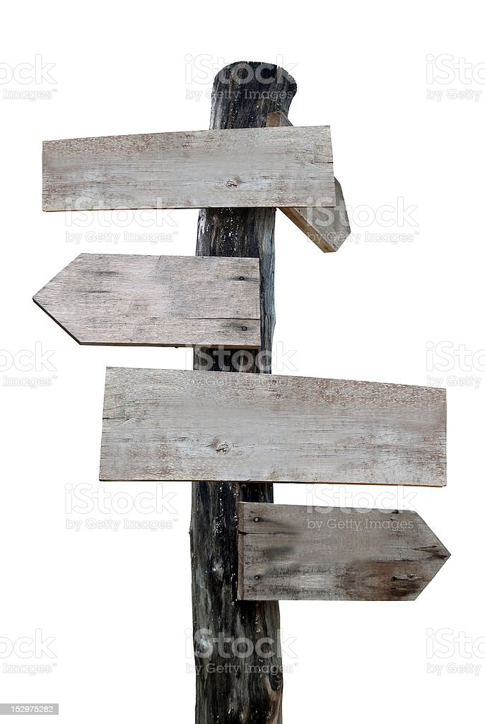 Old wooden sign royalty-free stock photo