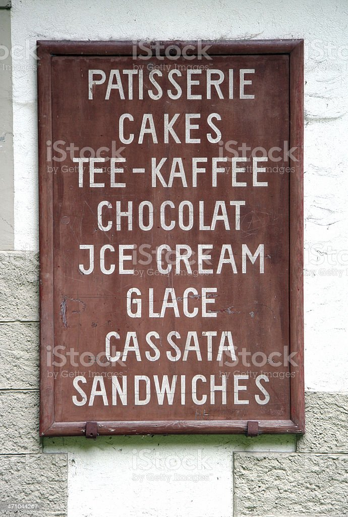 Old wooden signboard royalty-free stock photo