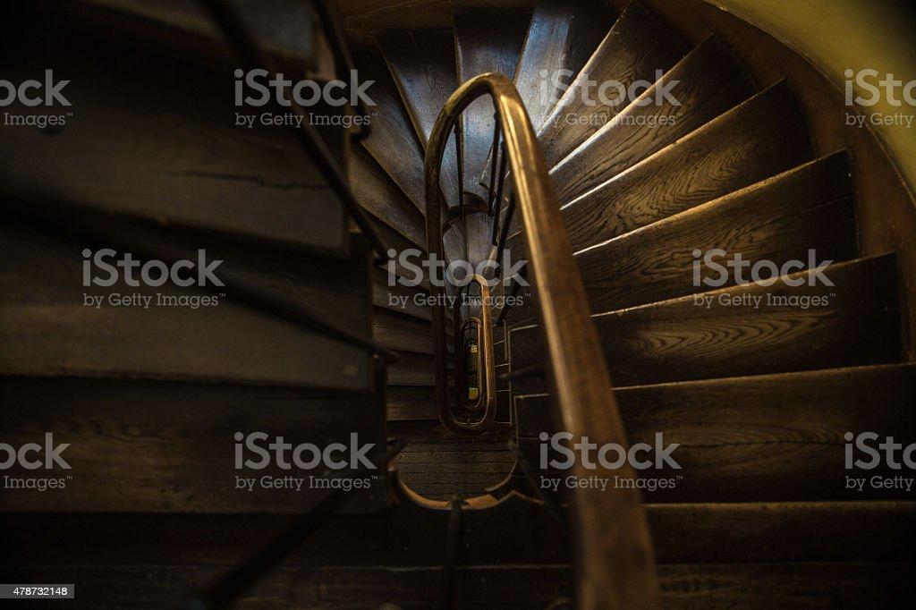 Stare drewniane schody zbiór zdjęć royalty-free