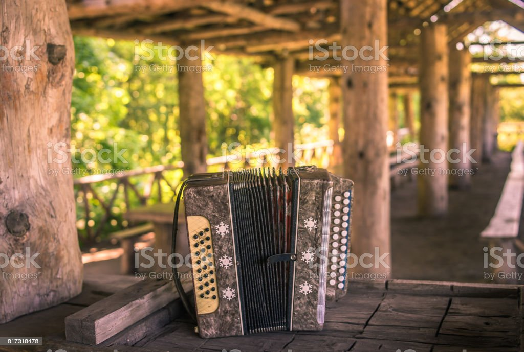Old wooden structure. stock photo