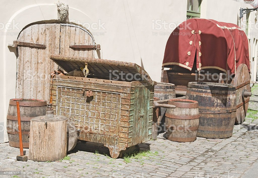 Old wooden stuff royalty-free stock photo