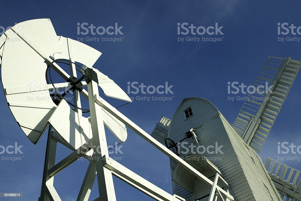 Old wooden Suffolk Windmill royalty-free stock photo