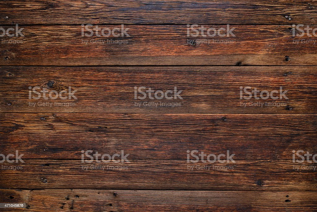 Old wooden table background, rustic wooden surface with copy space stock photo