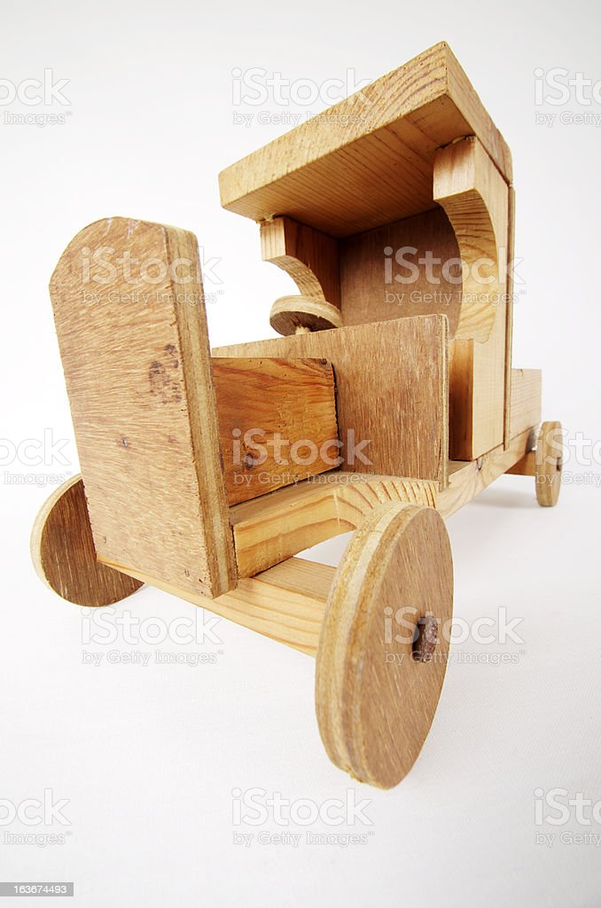 Old Wooden Toy Truck royalty-free stock photo