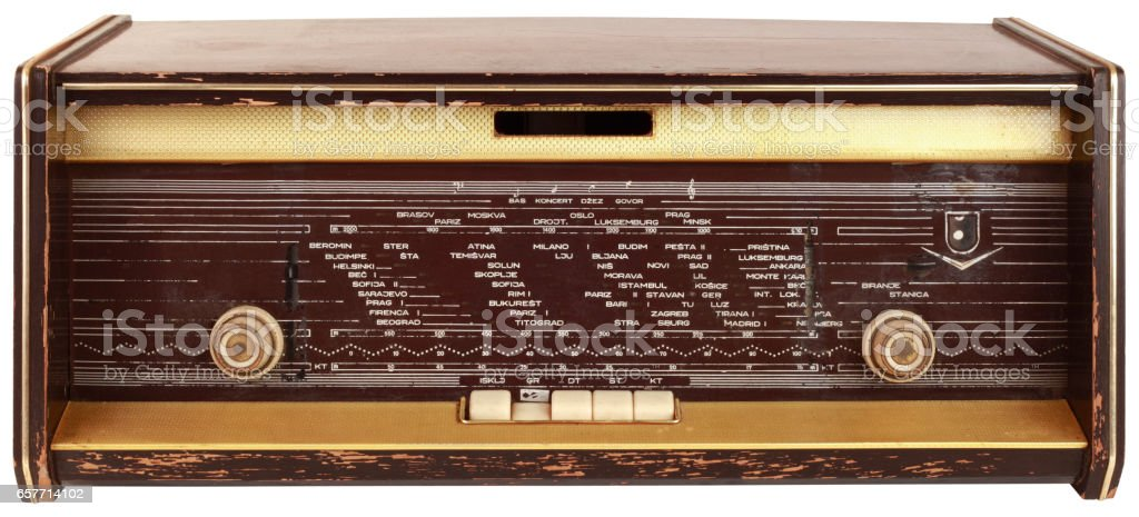 Old Wooden Tuner Cutout stock photo