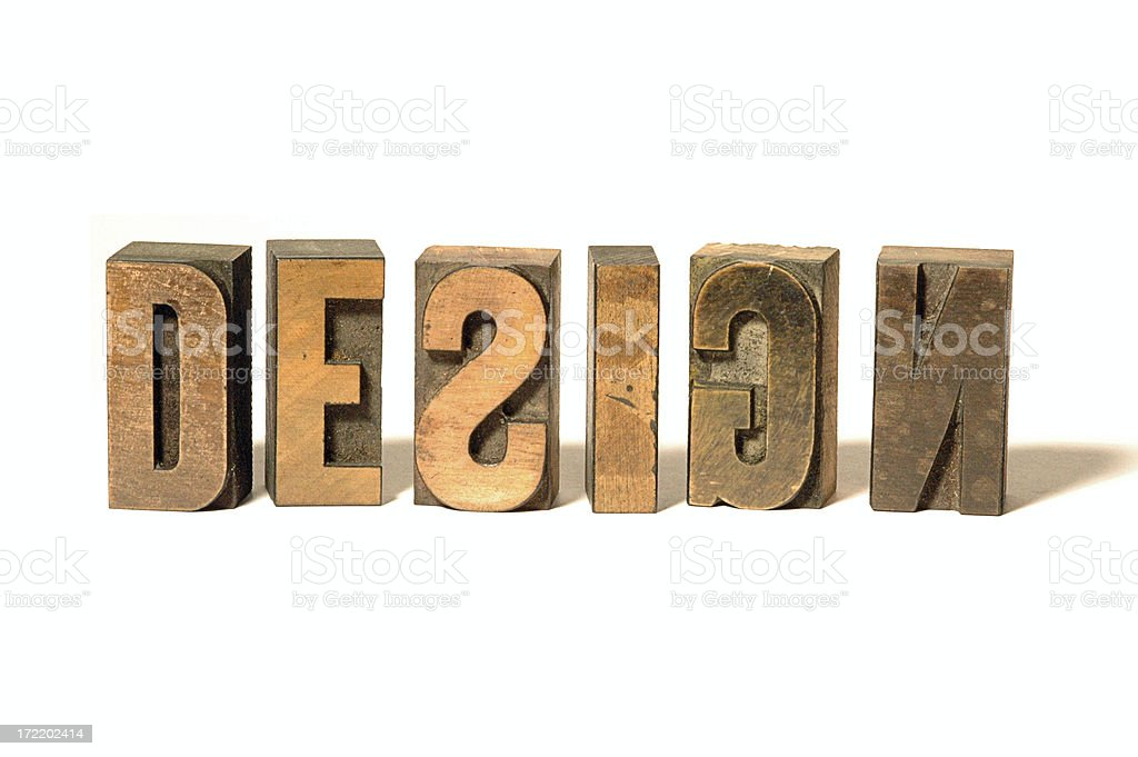 Old Wooden Type royalty-free stock photo