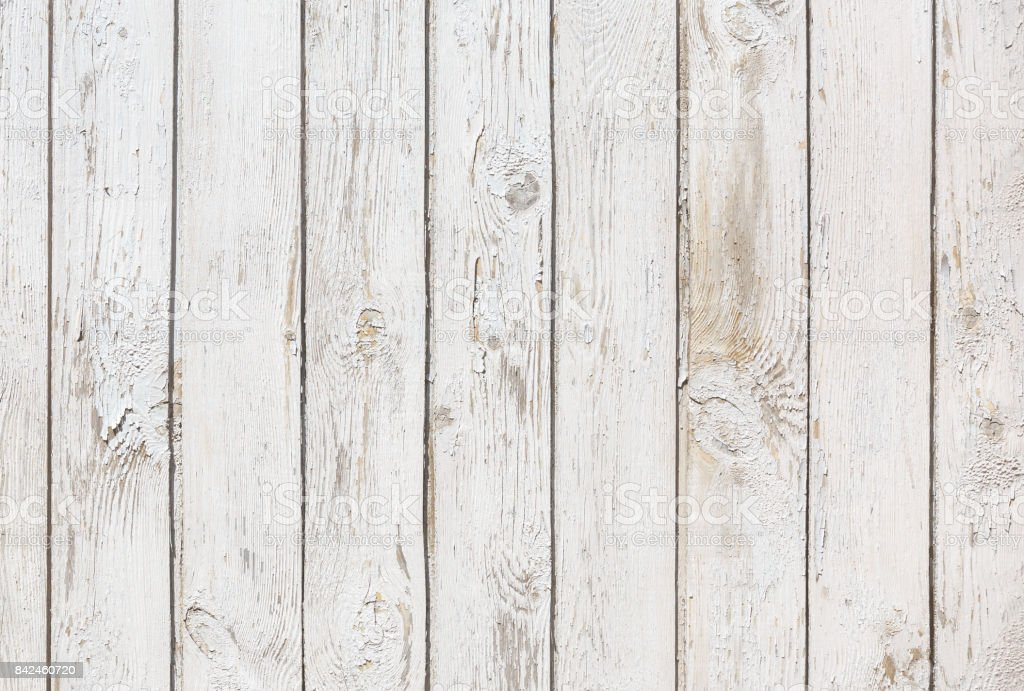 Old wooden vertical planks painted white colour stock photo
