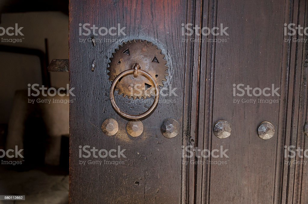 Old Wooden Vintage Gate stock photo