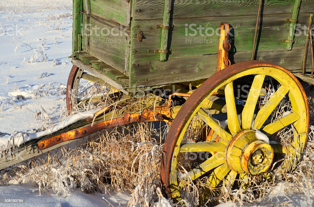 Old Wooden Wagon stock photo