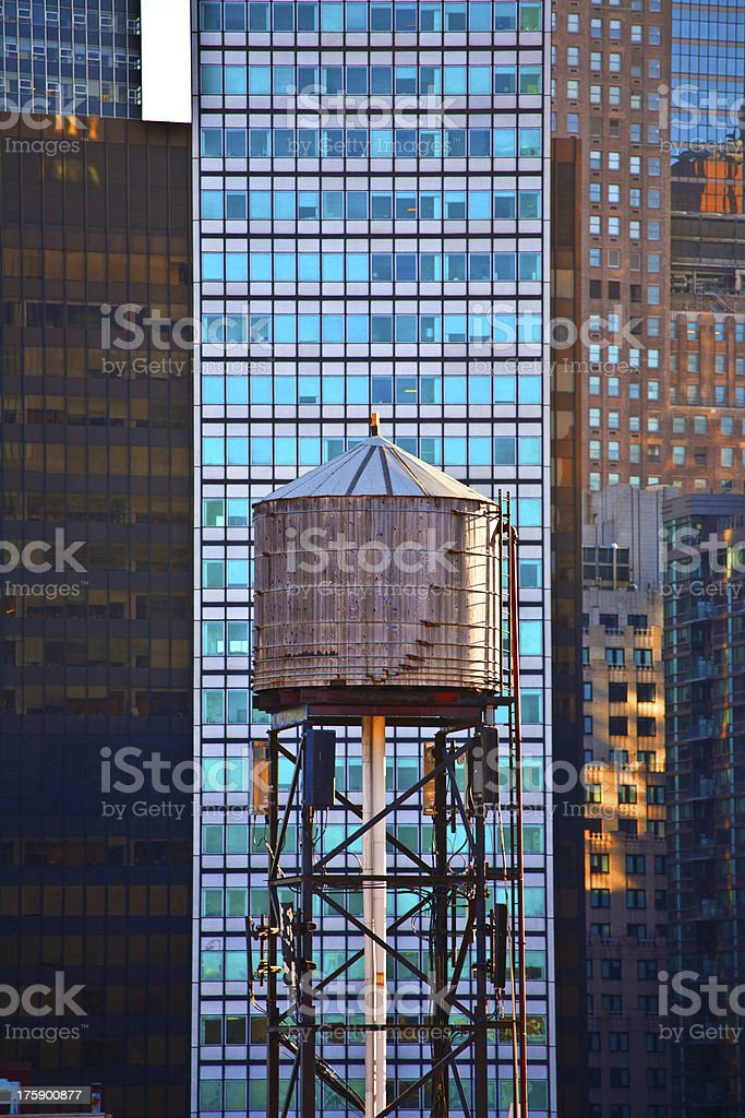 old wooden water tower royalty-free stock photo