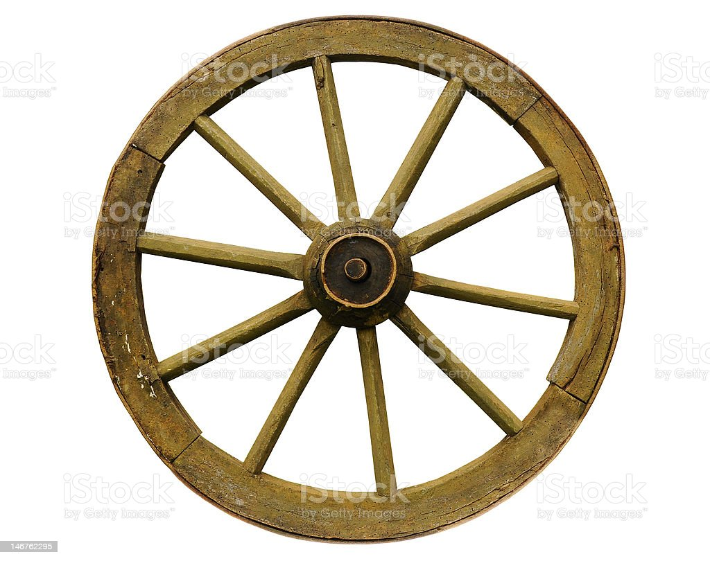 Old Wooden Wheel stock photo