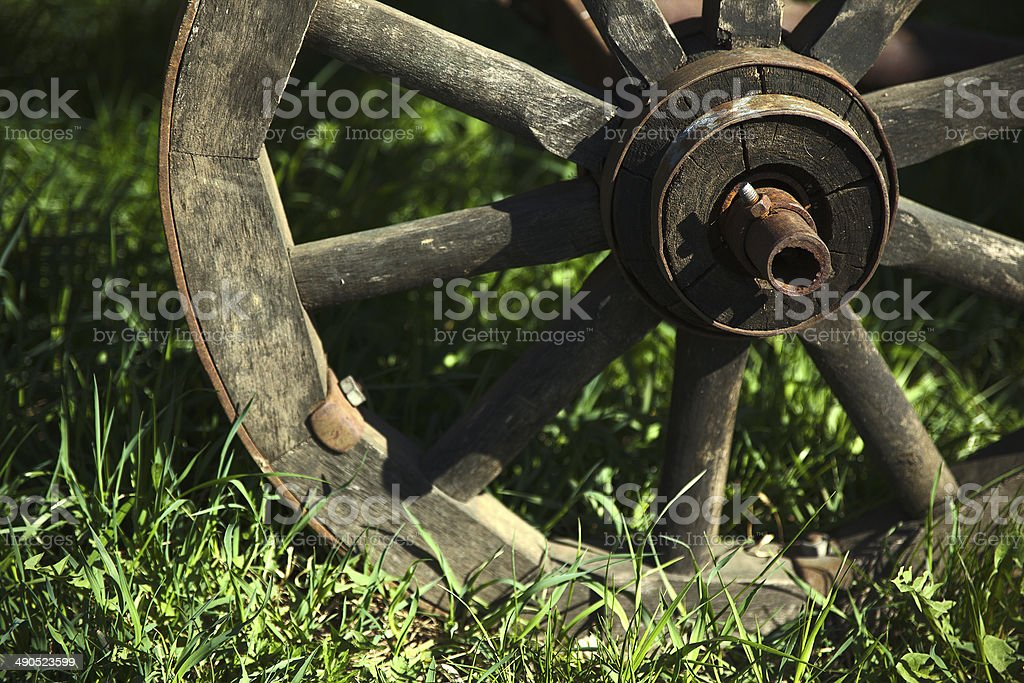 Old wooden wheel royalty-free stock photo