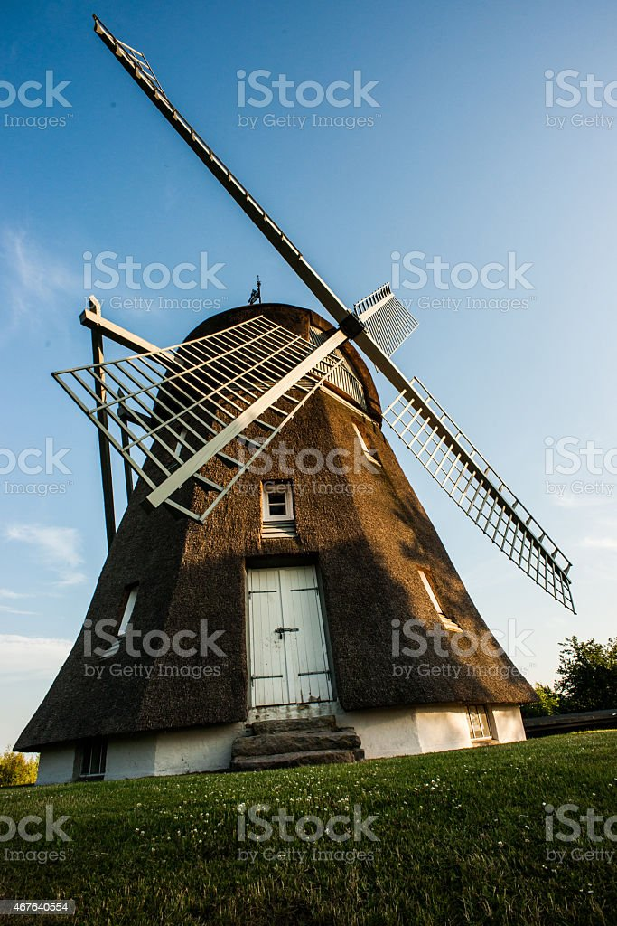 Old wooden wind mill royalty-free stock photo