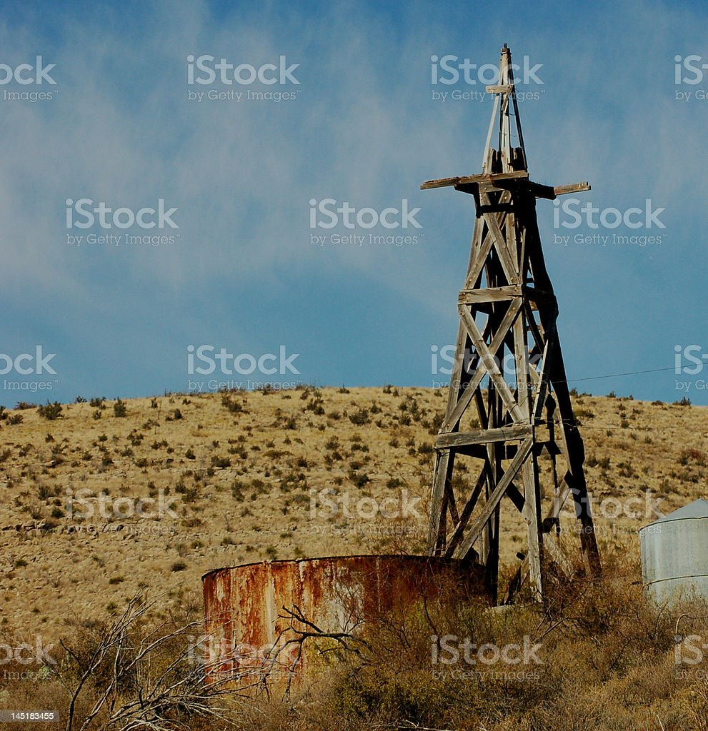 Old Wooden Windmill royalty-free stock photo