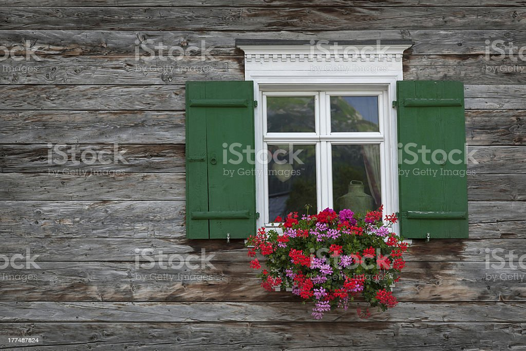 Old wooden window royalty-free stock photo