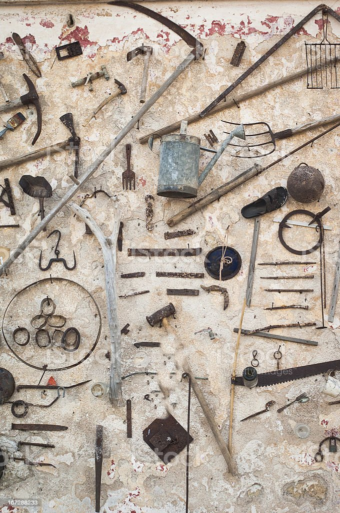 Old work tools royalty-free stock photo