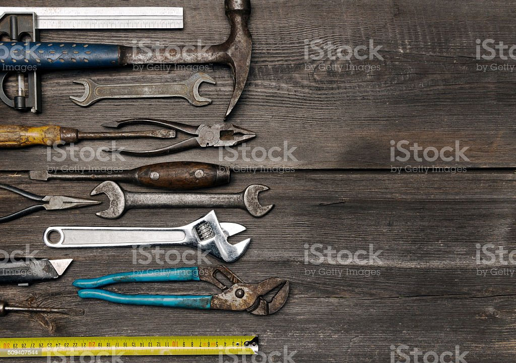 Old working tools stock photo