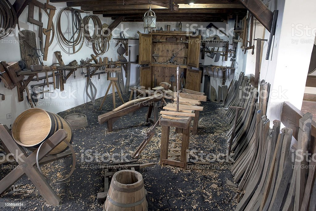 Old workroom royalty-free stock photo