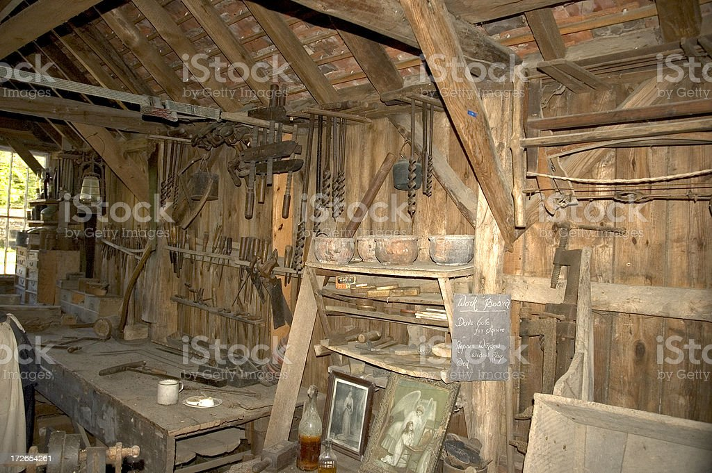 Old workshop royalty-free stock photo