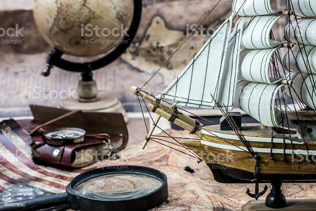 old world map for columbus day stock photo