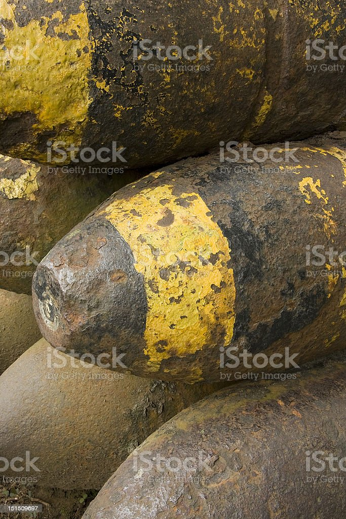 Old World War II Munitions royalty-free stock photo