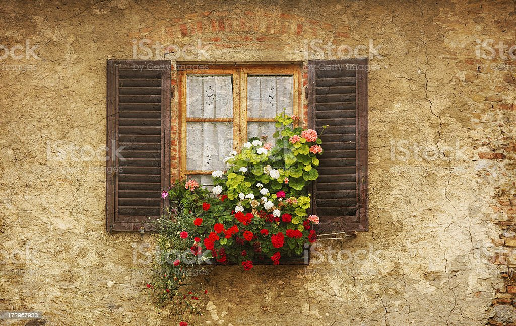 Old World Window royalty-free stock photo