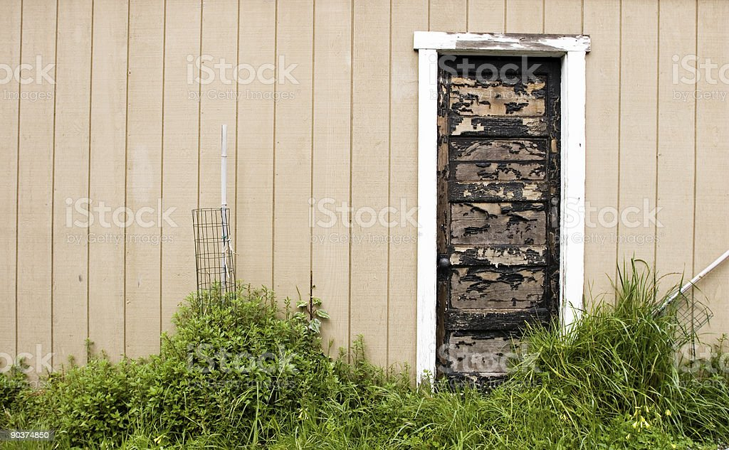 Old Worn Door wide royalty-free stock photo