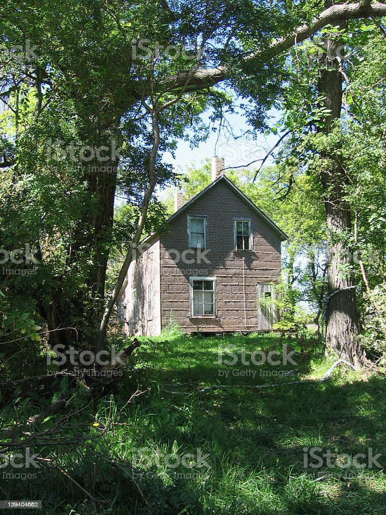 Old, Worn Down House royalty-free stock photo