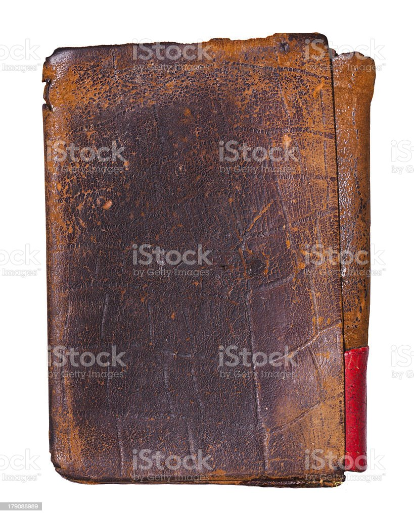 Old worn leather background royalty-free stock photo