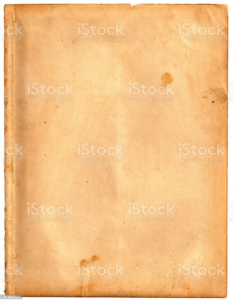 Old Worn Paper Isolated royalty-free stock photo