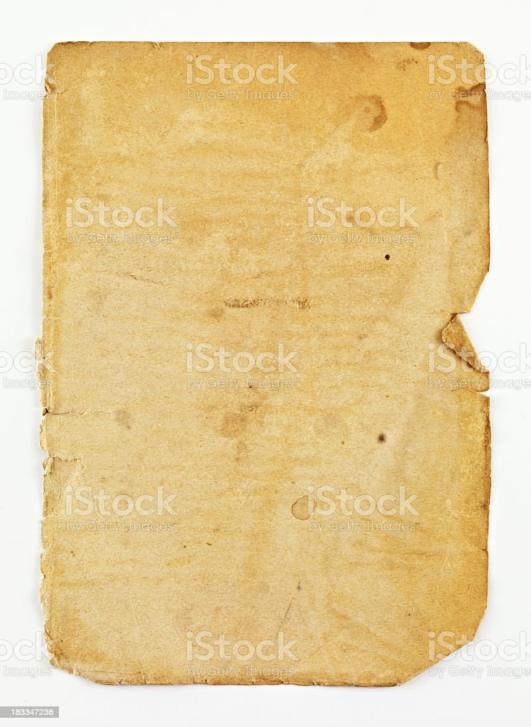 Old Worn Paper stock photo