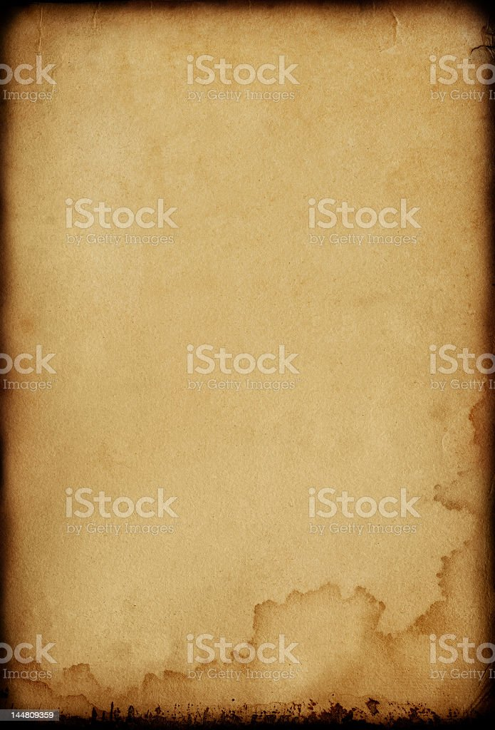 Old, worn, paper textured background stock photo