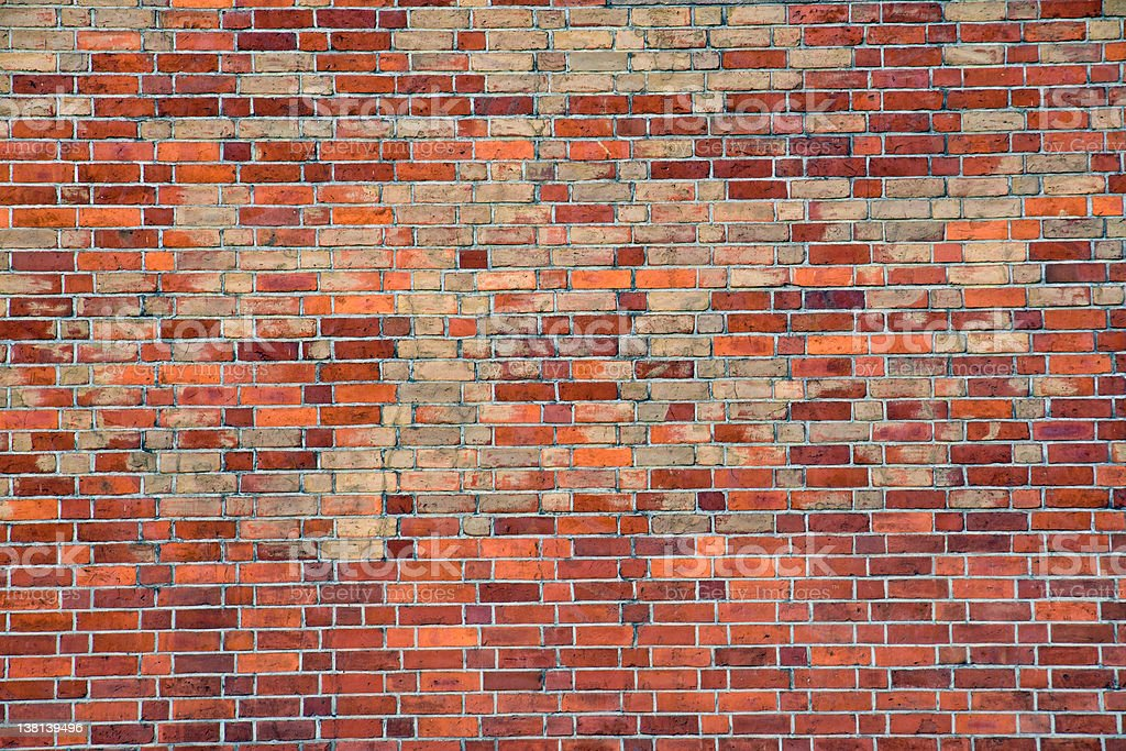 Old worn red brickwall stock photo