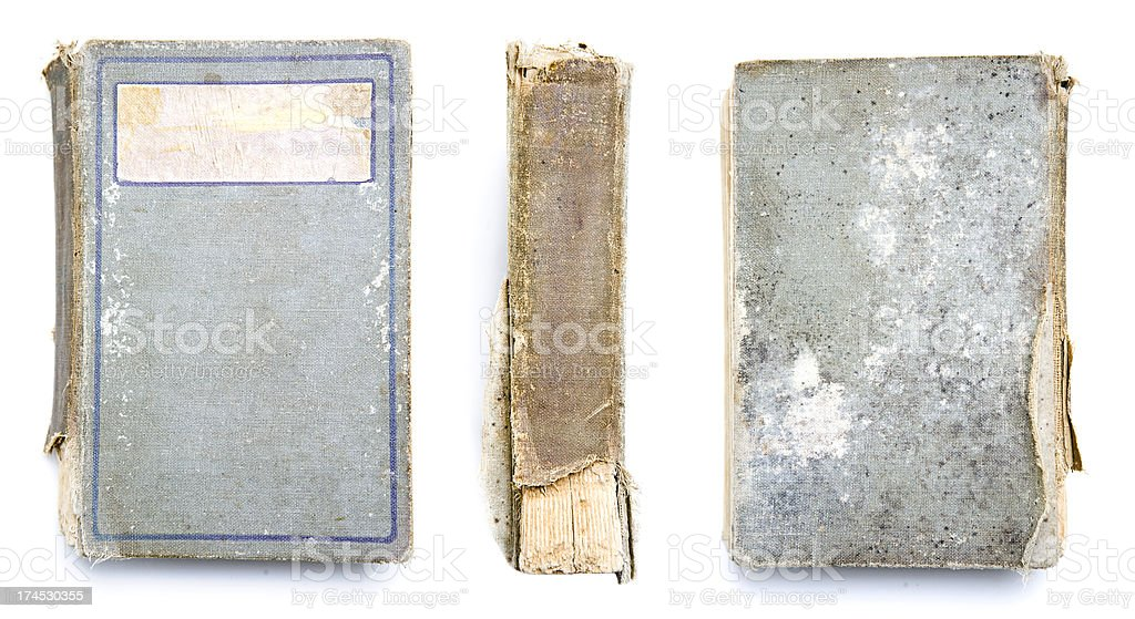 Old Worn Vintage Book With Copy Space royalty-free stock photo