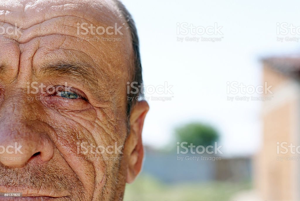 Old wrinkled man royalty-free stock photo