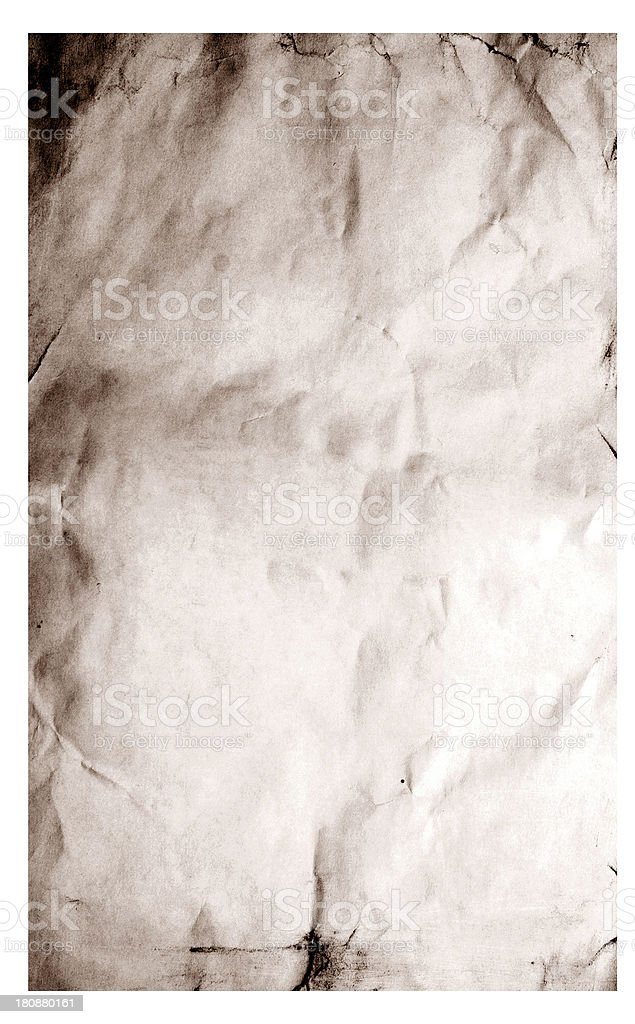 old wrinkled paper royalty-free stock photo