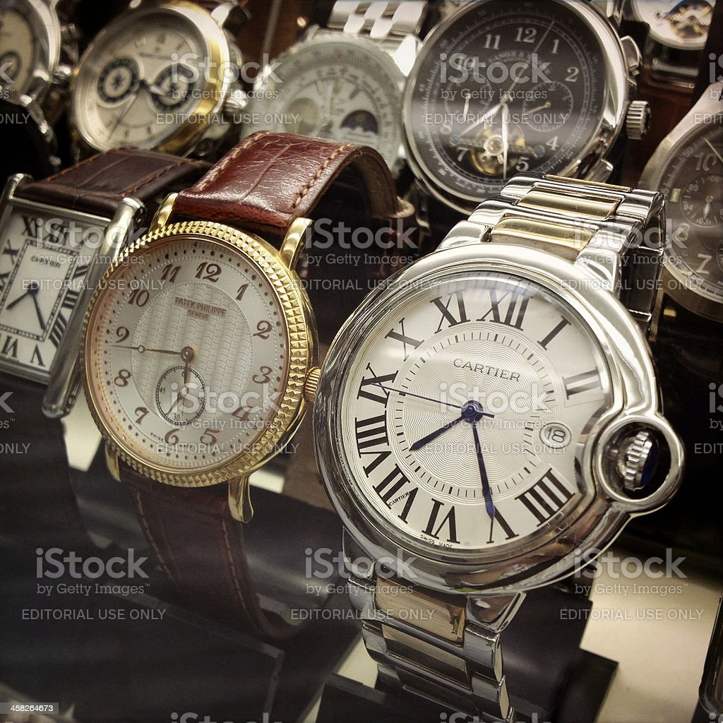 old wrist watches stock photo