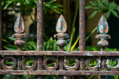 Old Wrought Iron Fence Detail