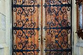 Old wrought-iron gates.