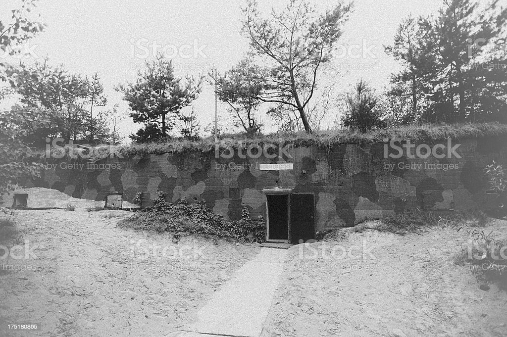 Old WWII bunker stock photo