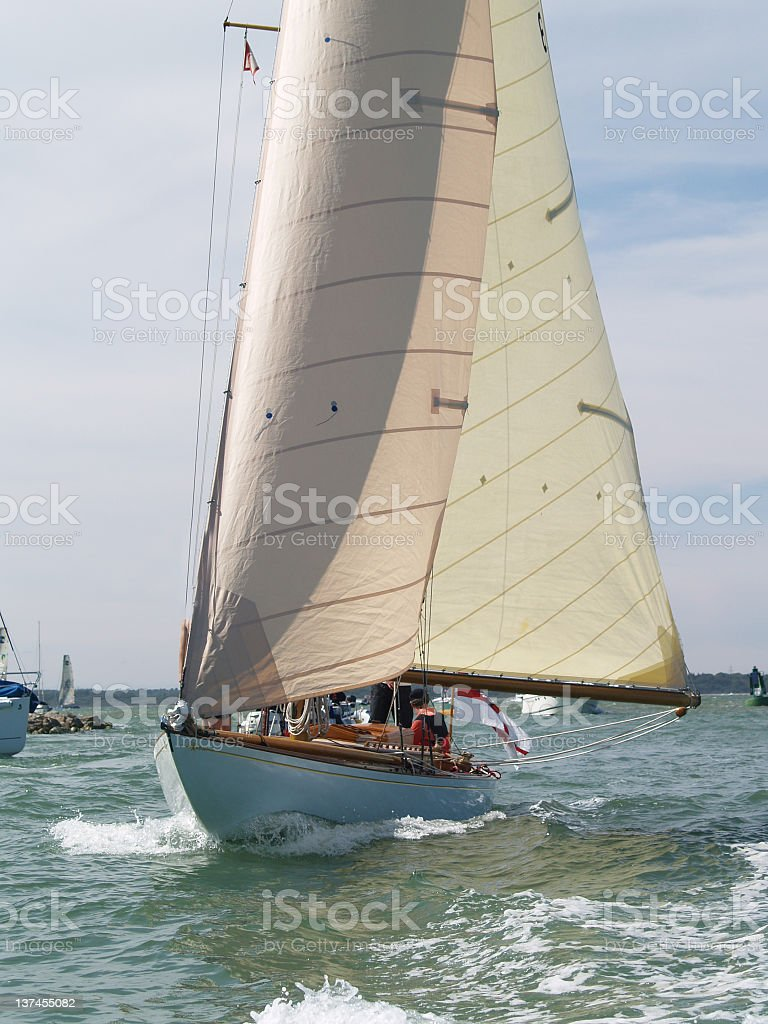 Old Yacht stock photo