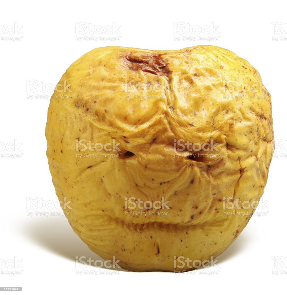 old yellow apple royalty-free stock photo