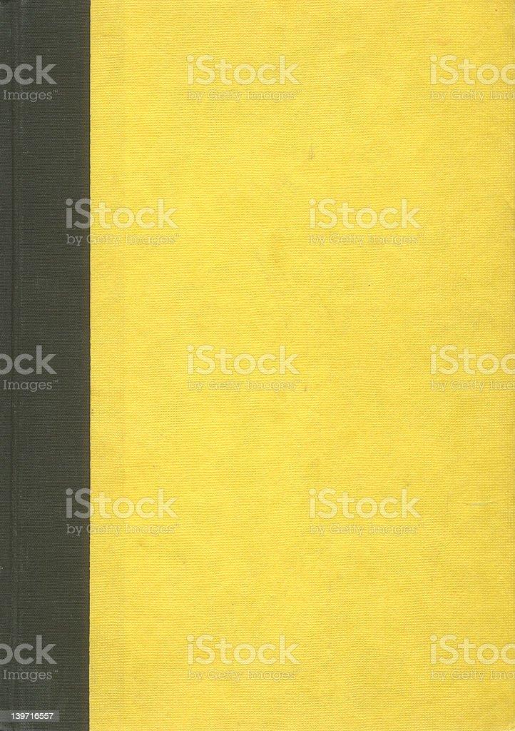 Vieille Couverture de livre Noir Jaune bordure photo libre de droits