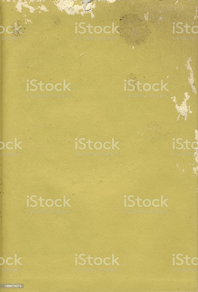 Old Yellow damaged paper royalty-free stock photo