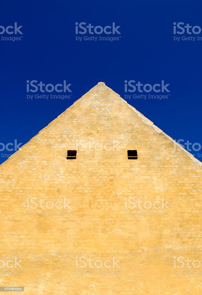 Old Yellow Gable royalty-free stock photo