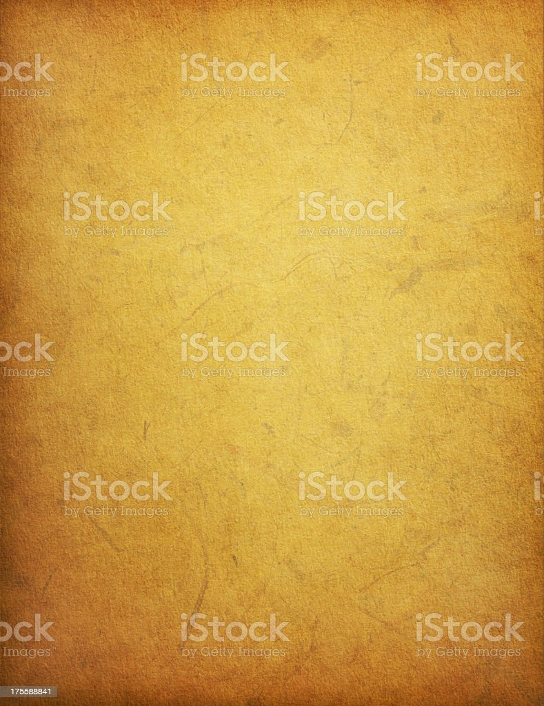 Old Yellow Paper Background with Stains stock photo